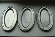 3 тарелки из нержавеющей стали времен СССР